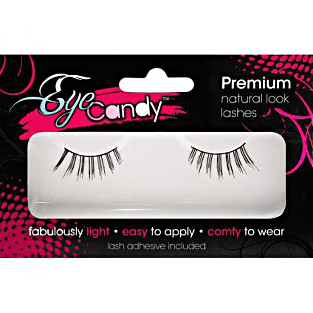 Eye Candy Optical Illusion Flirty Demi Lashes Black - View #2