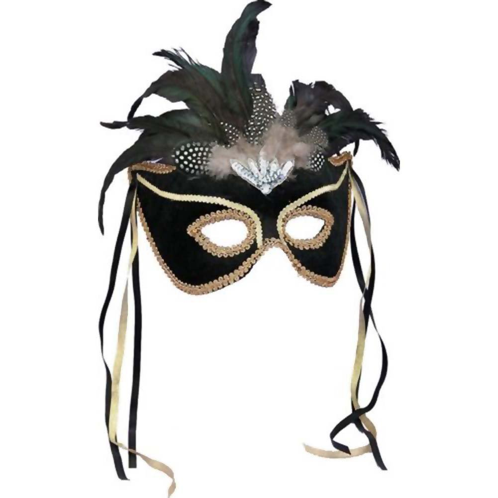 Karneval Style Female Mask One Size Black - View #1