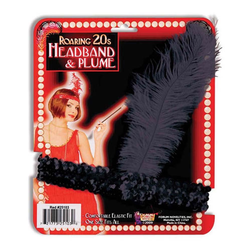 Roaring 20S Headband Plume - View #1