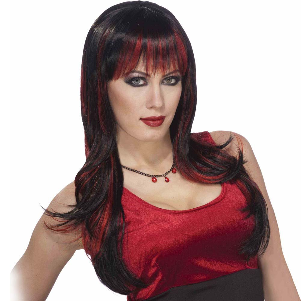 Forum Novelties Vicious Wig Black/Red - View #1