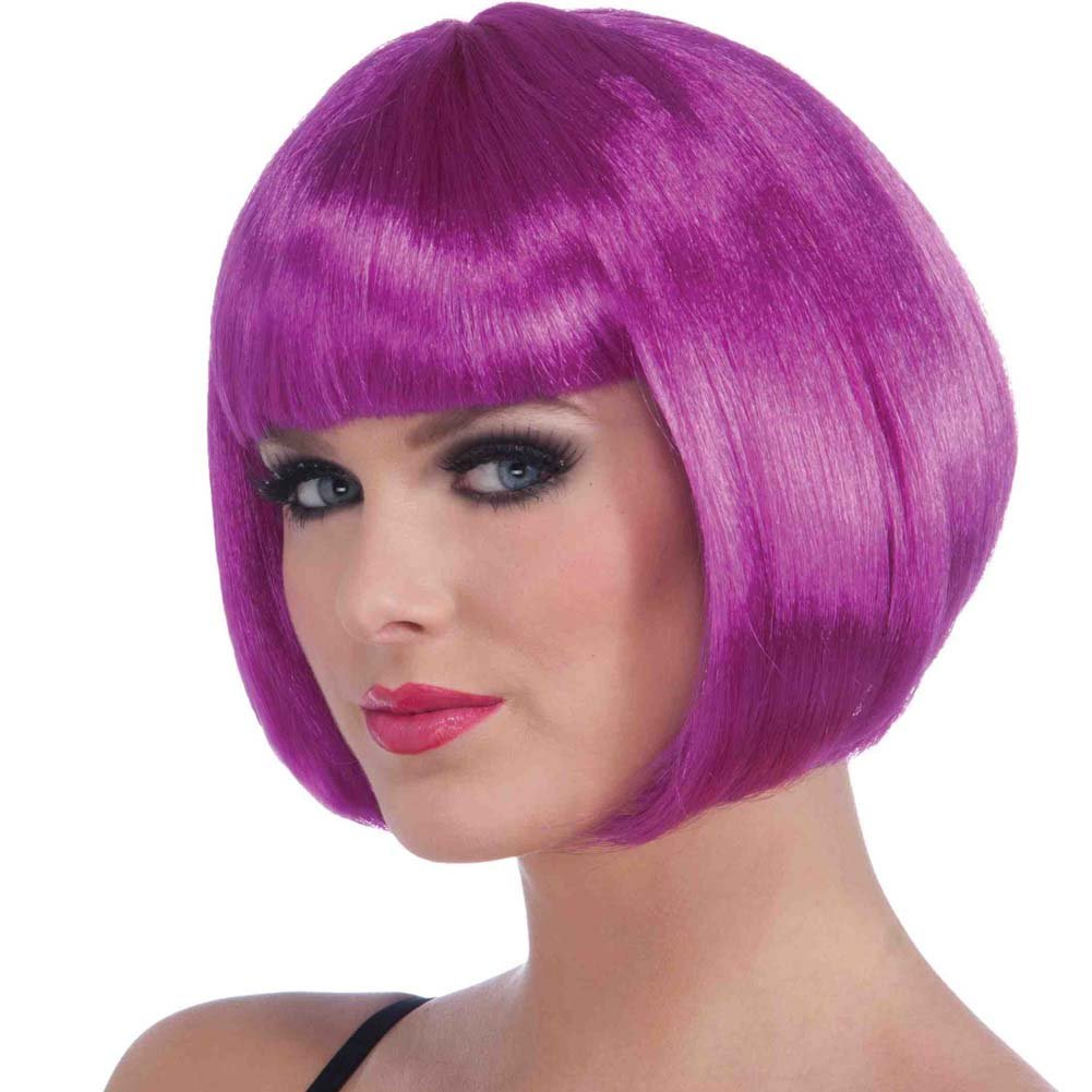 Neon Bob Wig Purple - View #1