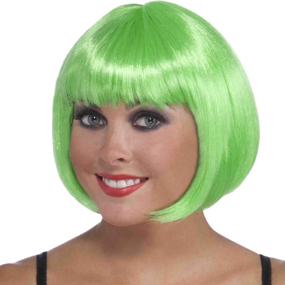 Neon Bob Wig Green - View #1