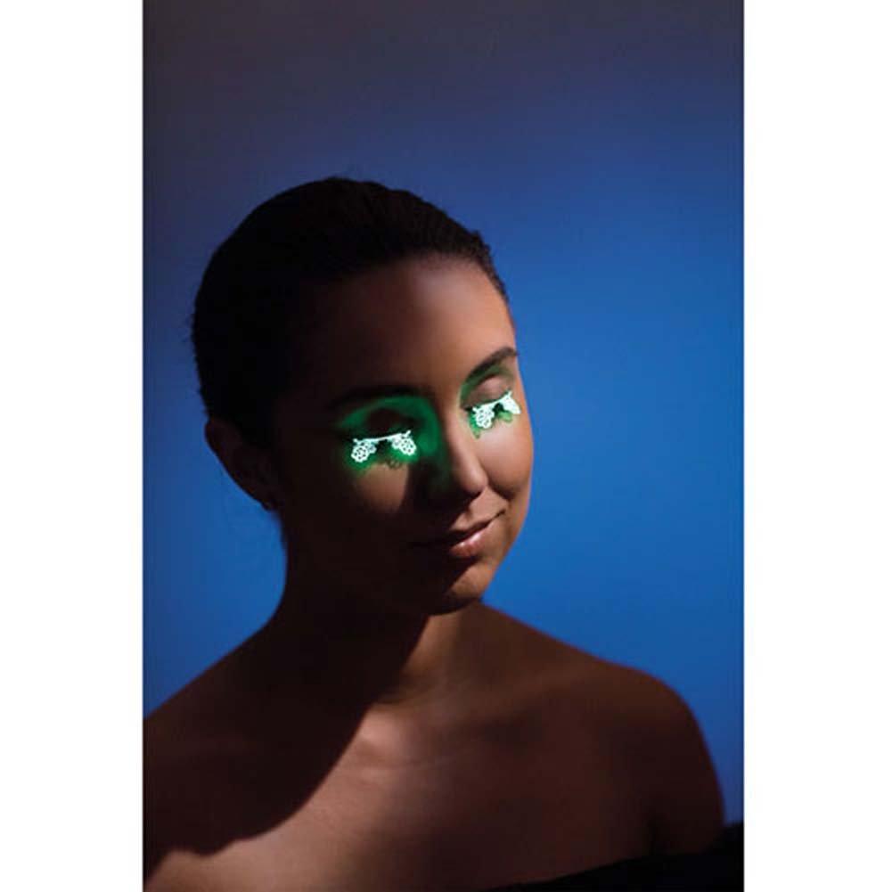 Lazer Cut Glow in the Dark Floral Eyelashes - View #1