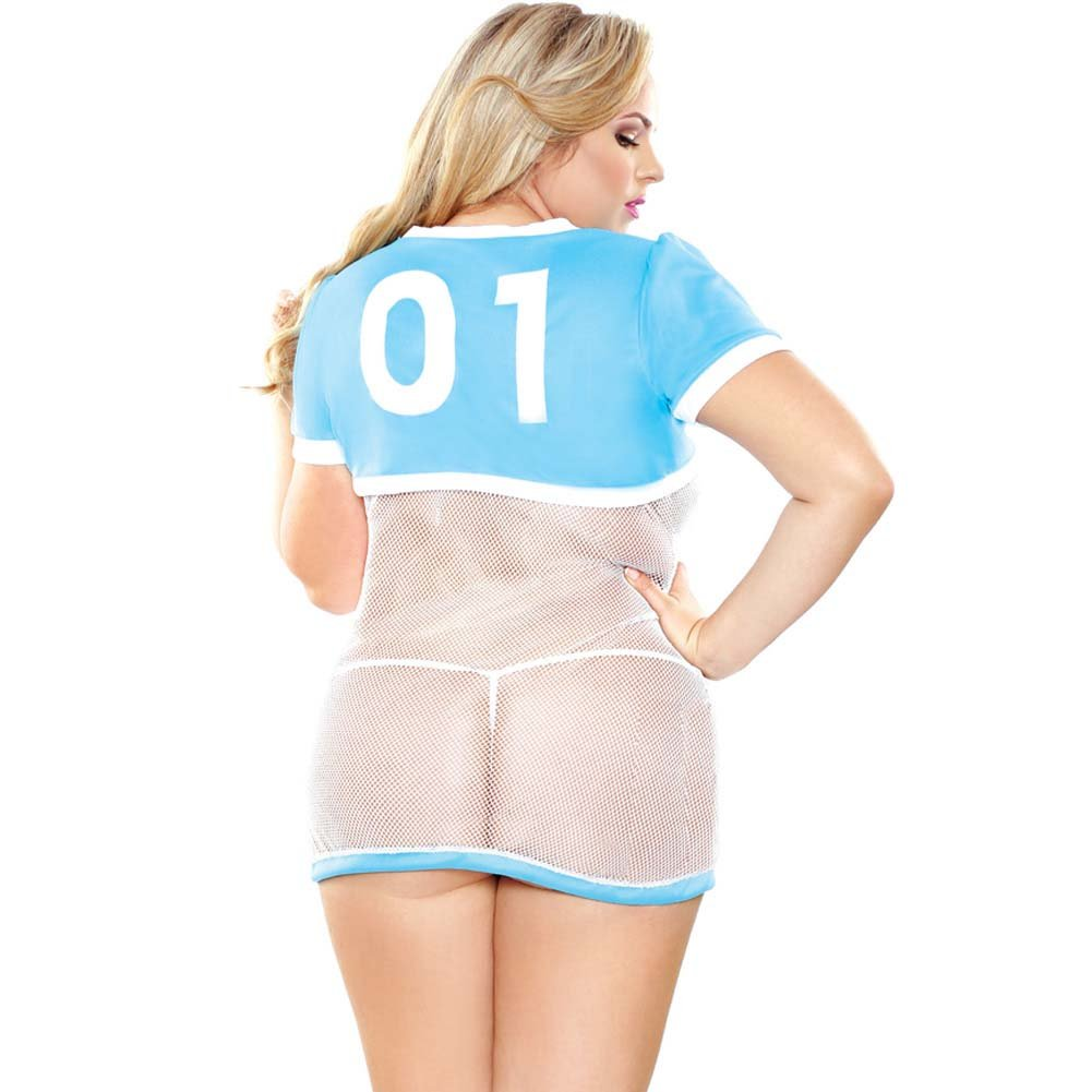 Curve Sports Babe Costume 3X/4X Blue - View #2