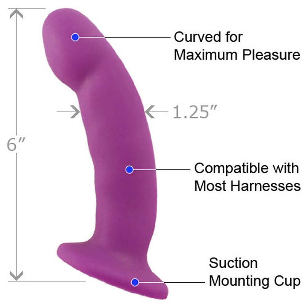 Blush Advanced Harness Kit With CiCi Silicone Dong Purple Bulk - View #3