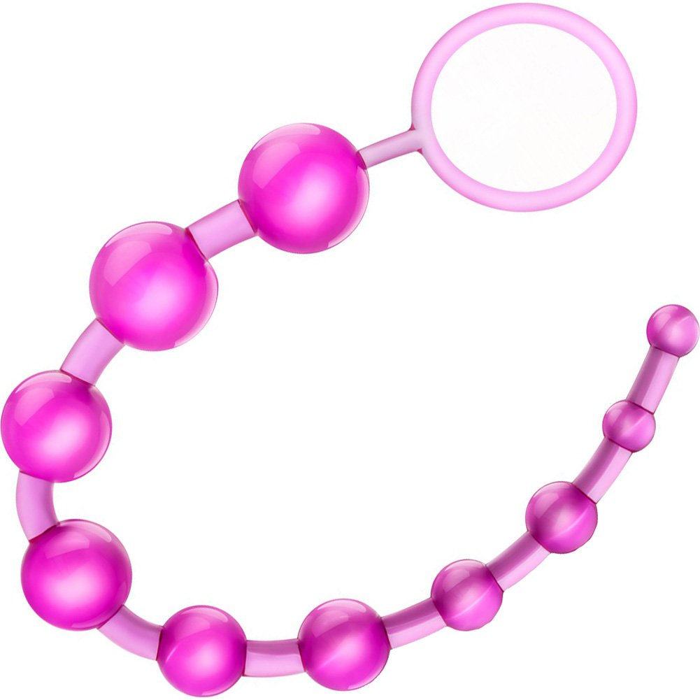 "Blush B Yours Basic Anal Beads 12.75"" Pink - View #2"