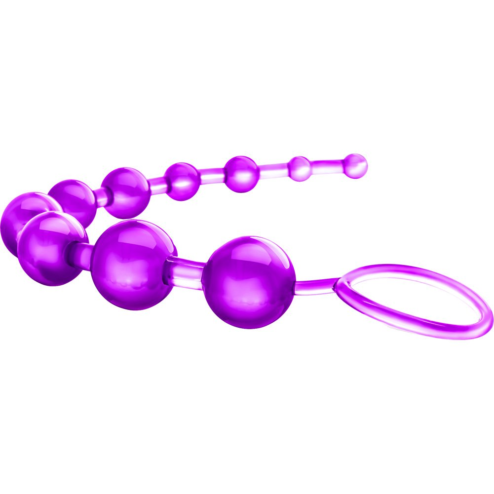 "Blush B Yours Basic Anal Beads 12.75"" Purple - View #3"