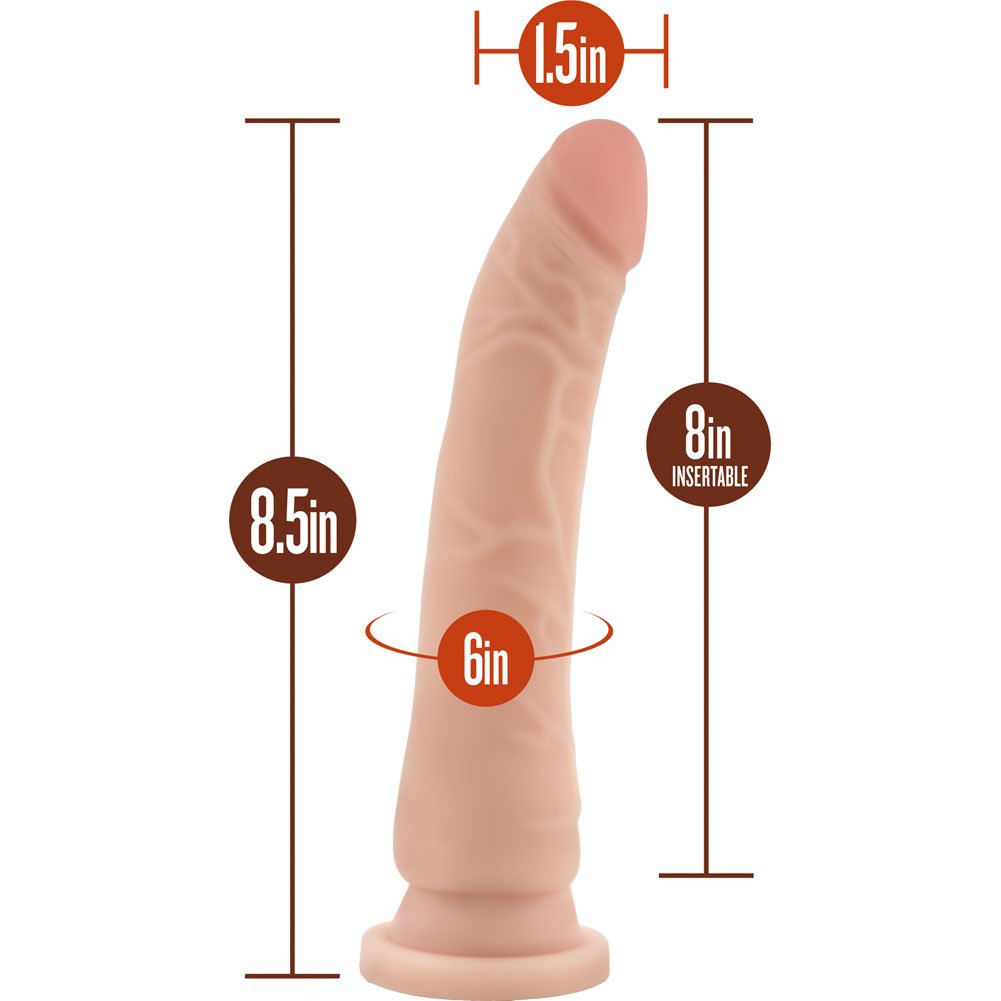"Blush B Yours Basic 8.5 - Dildo with Suction Cup 8.5"" Natural - View #1"