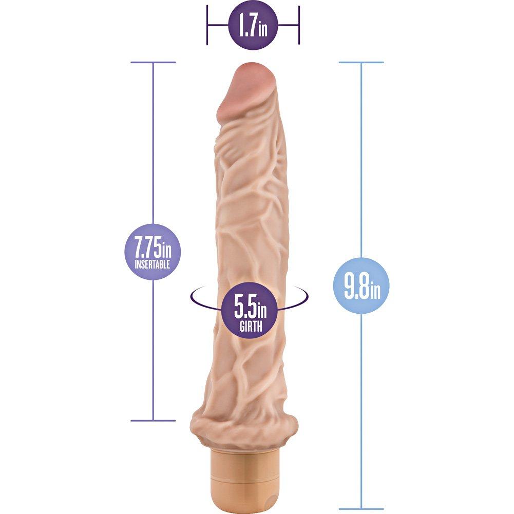 "Blush Novelties Dr. Skin No. 8 Cock Vibrator 9.75"" Natural Flesh - View #1"