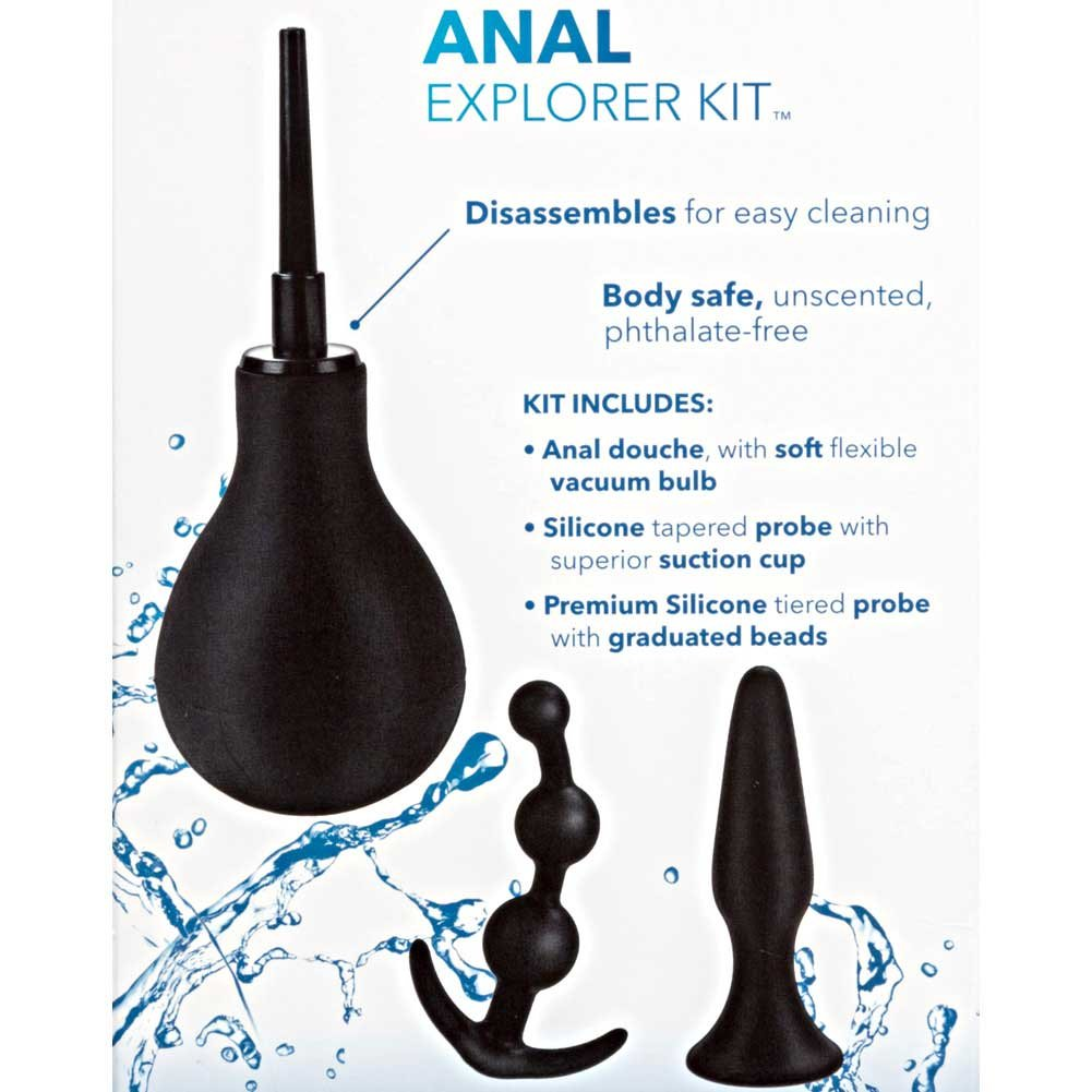 California Exotics 3 Piece Anal Explorer Kit Black - View #1