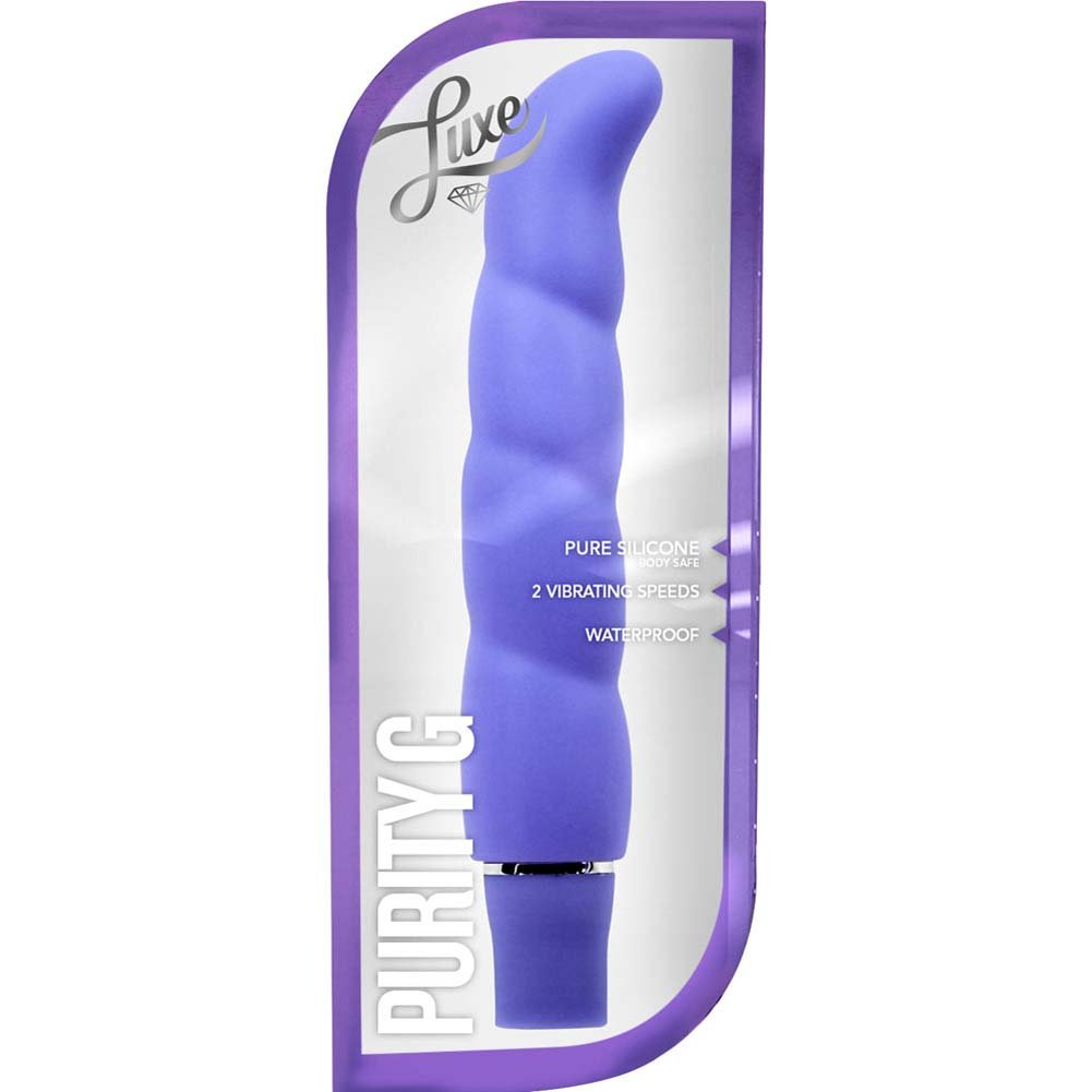 """Blush Luxe Purity G - Silicone G-Spot Vibrator 6.25"""" Periwinkle - View #1"""