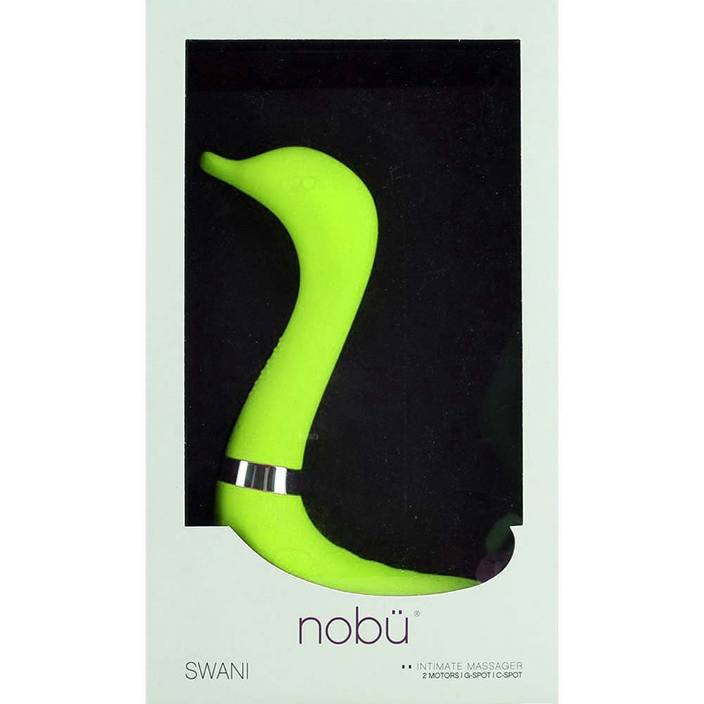 """Nobu Swani - Temperature Sensor System G-Spot Vibrator 10"""" Lime - View #3"""