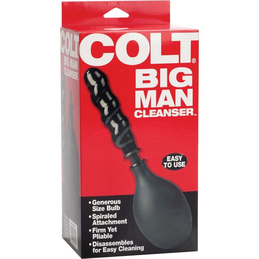 "California Exotics COLT Big Man Cleanser Enema Bulb with 6"" Probe Black - View #3"