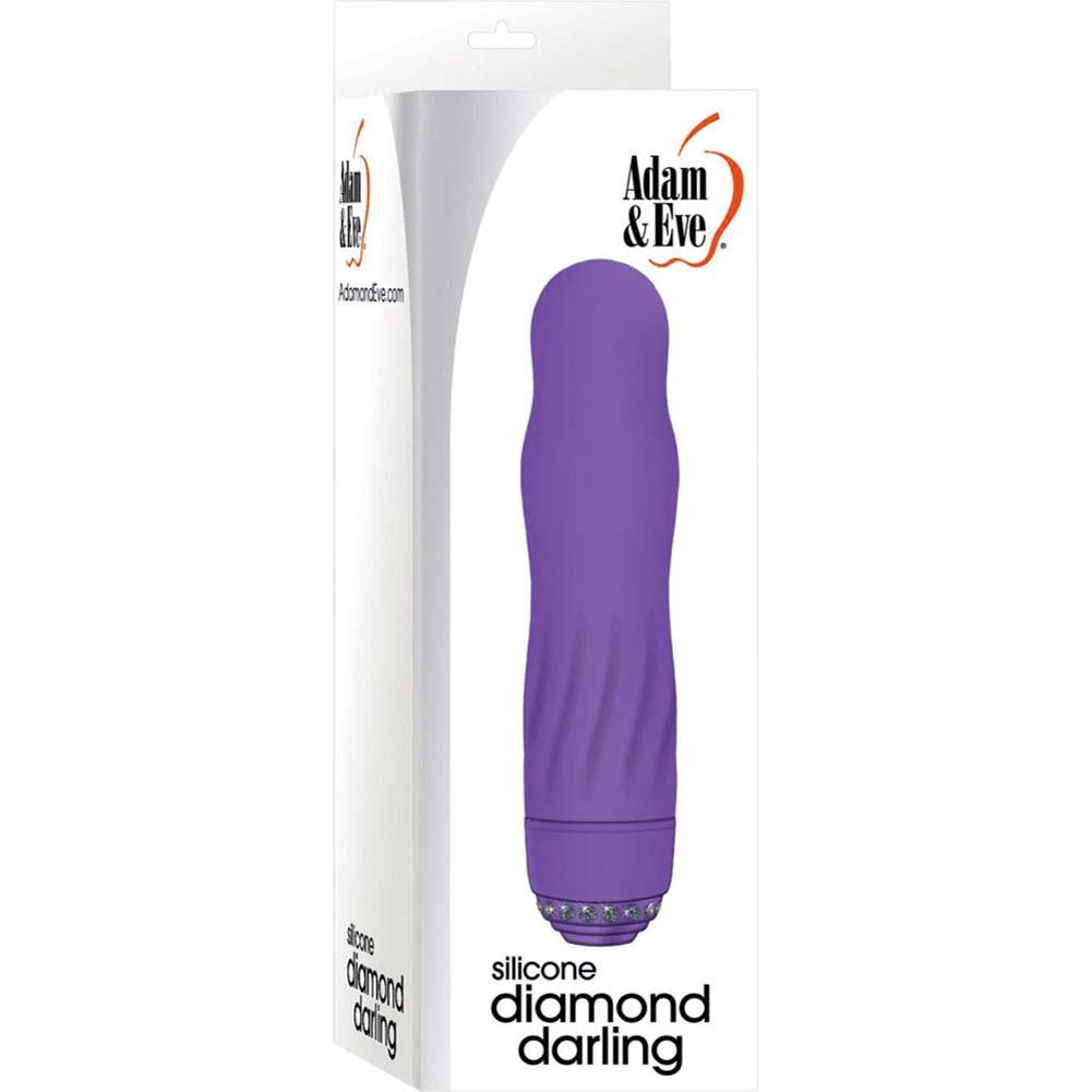 "Adam and Eve Silicone Diamond Darling Vibrator 5"" Purple - View #1"