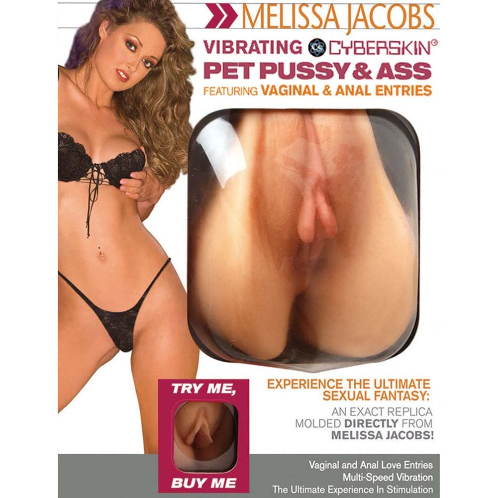 Melissa Jacobs Vibrating CyberSkin Pet Pussy and Ass Stroker Male Masturbator - View #1