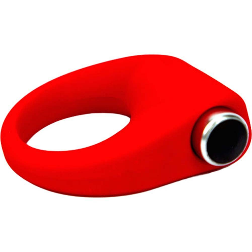 Hard On Vibrating Silicone Cock Ring Red - View #3