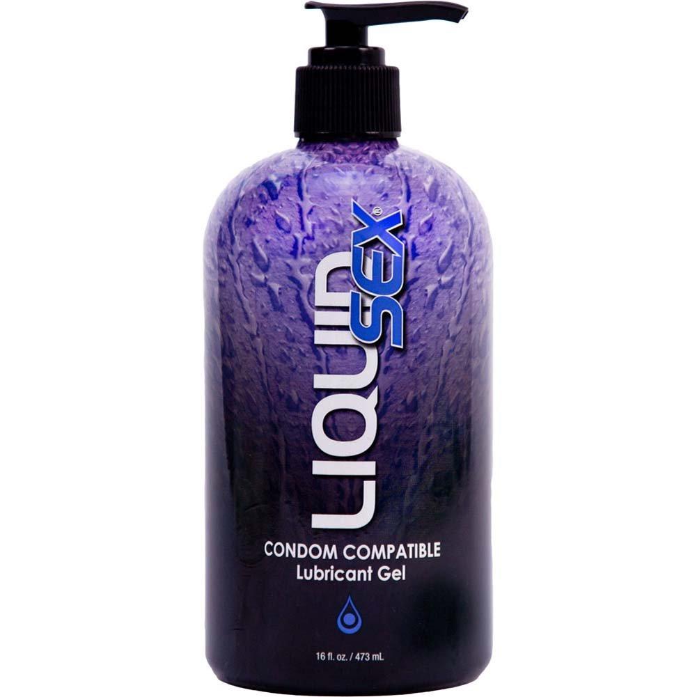 Liquid Sex Condom Compatible Lubricant Gel 16 Fl. Oz. 473 Ml Pump Bottle - View #1