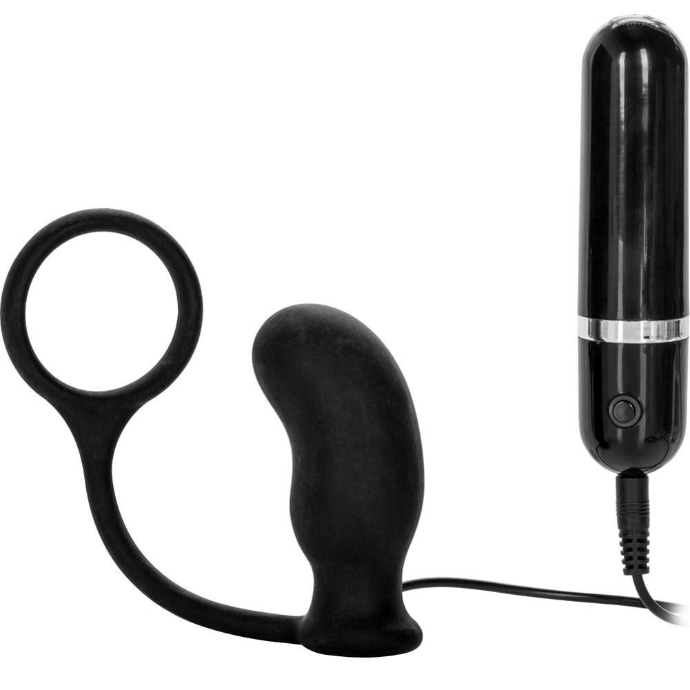 "CalExotics Dr. Joel Kaplan 10 Function Prostate Massager Ring for Men 3.5"" Black - View #2"