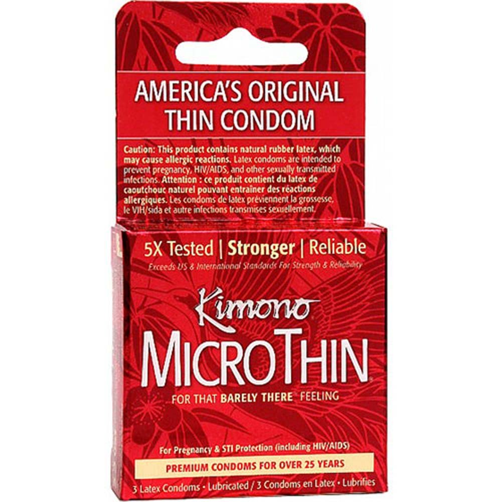 Kimono MicroThin Lubricated Latex Condoms 3 Pack - View #1