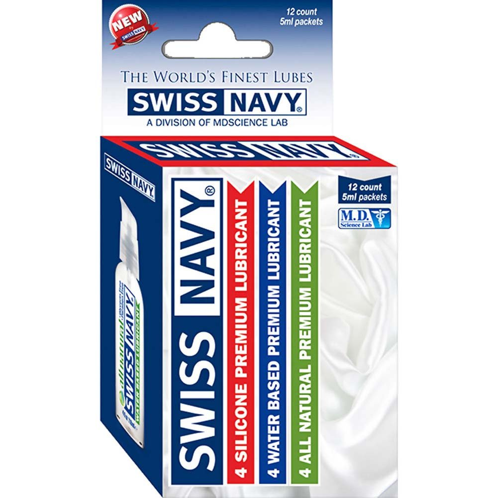 Swiss Navy Assorted Samples Box 12 Pack - View #1