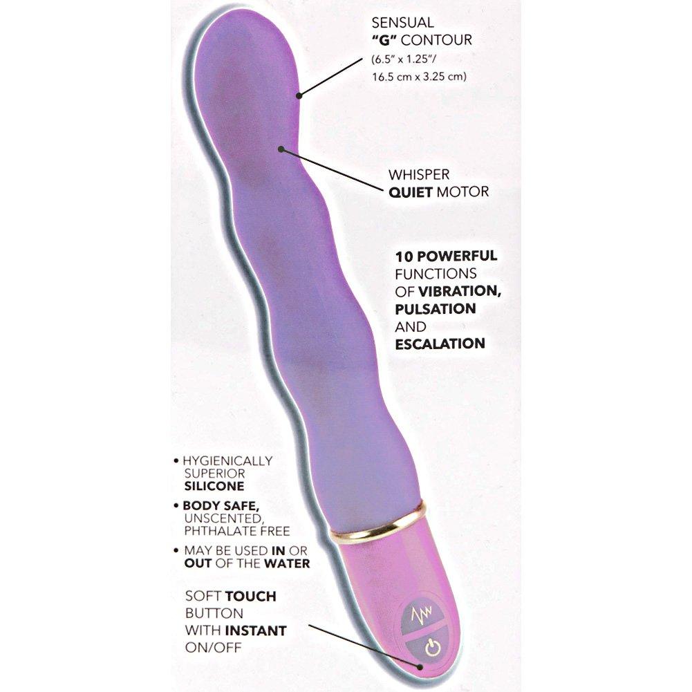"California Exotics Lia Magic Wand Vibrator 6.5"" Purple - View #1"
