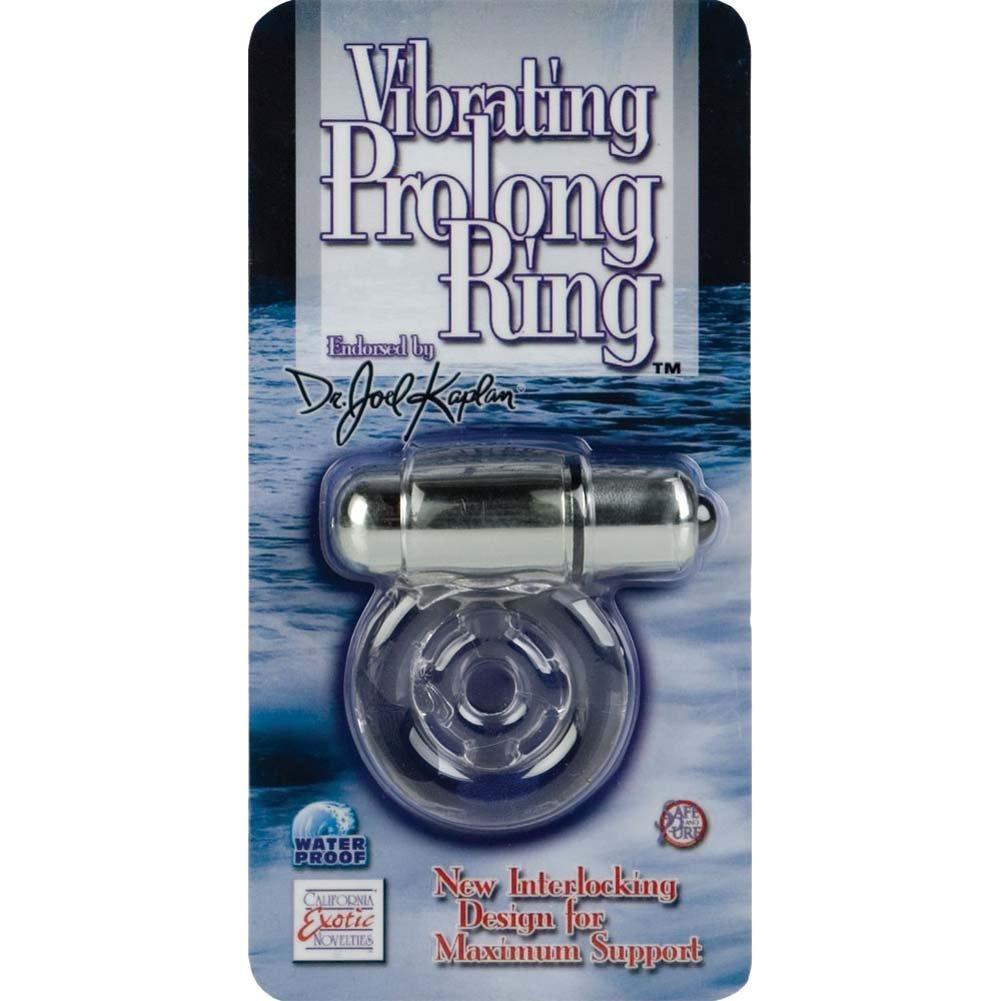 CalExotics Dr. Joel Kaplan Vibrating Prolong Ring for Men Clear - View #4