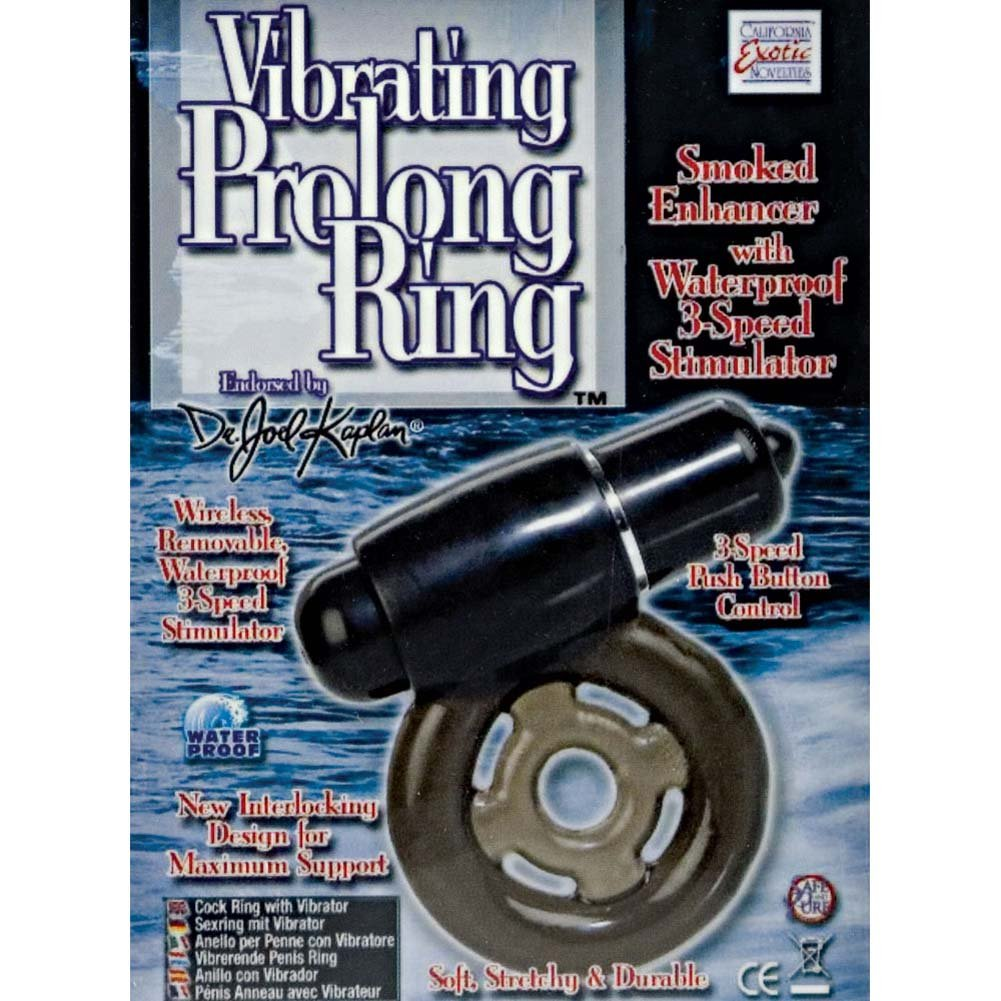 CalExotics Dr. Joel Kaplan Vibrating Prolong Ring for Men Smoke - View #1