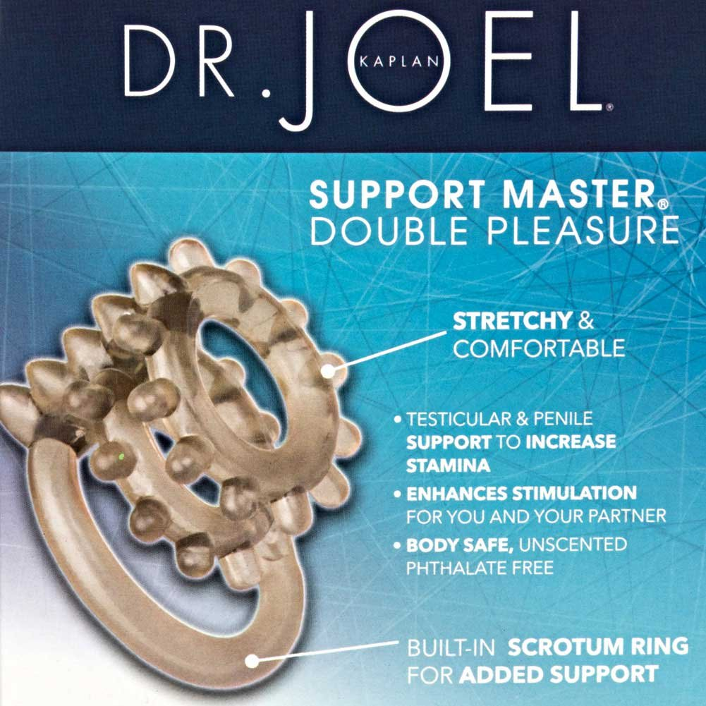 CalExotics Dr. Joel Kaplan Support Master Double Pleasure Cockring Smoke - View #1