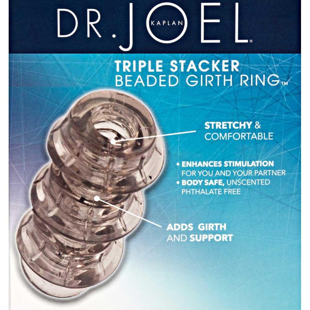 """CalExotics Dr. Joel Kaplan Beaded Girth Ring Triple Stacker 3.25"""" Smoke - View #1"""