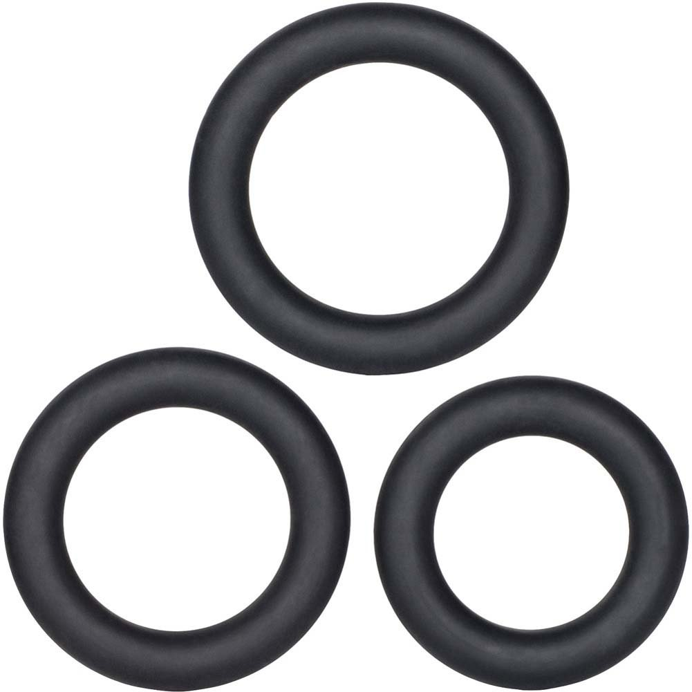 California Exotics Dr. Joel Kaplan Silicone Support Rings Black - View #2