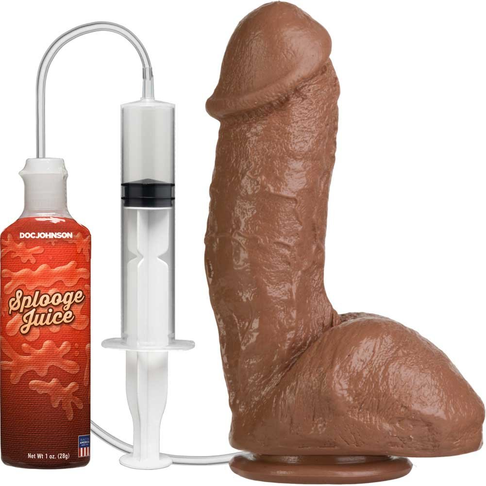 "The Amazing Squirting Realistic Cock 6"" Brown - View #2"