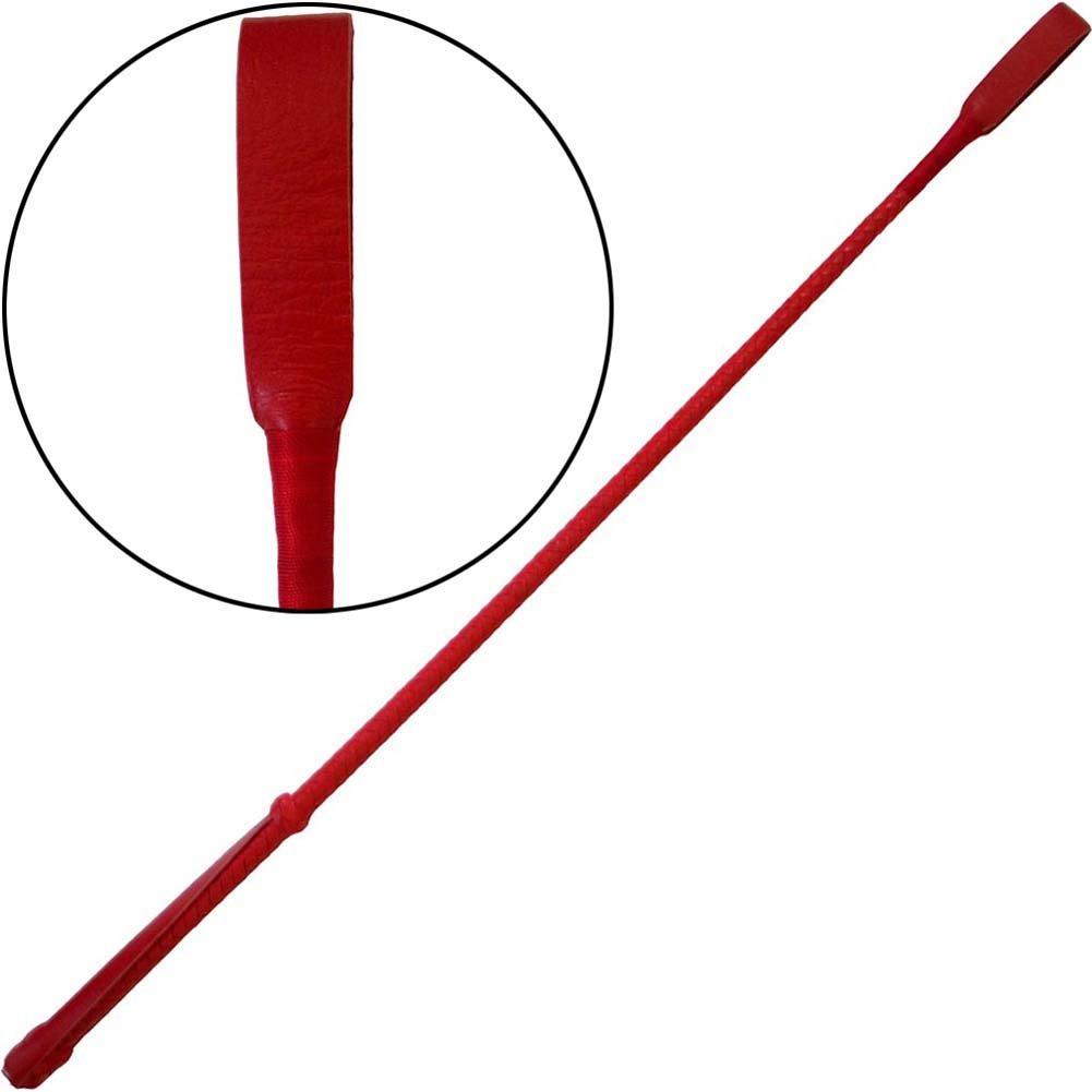 Ruff Doggie Herringbone Leather Crop Red - View #2