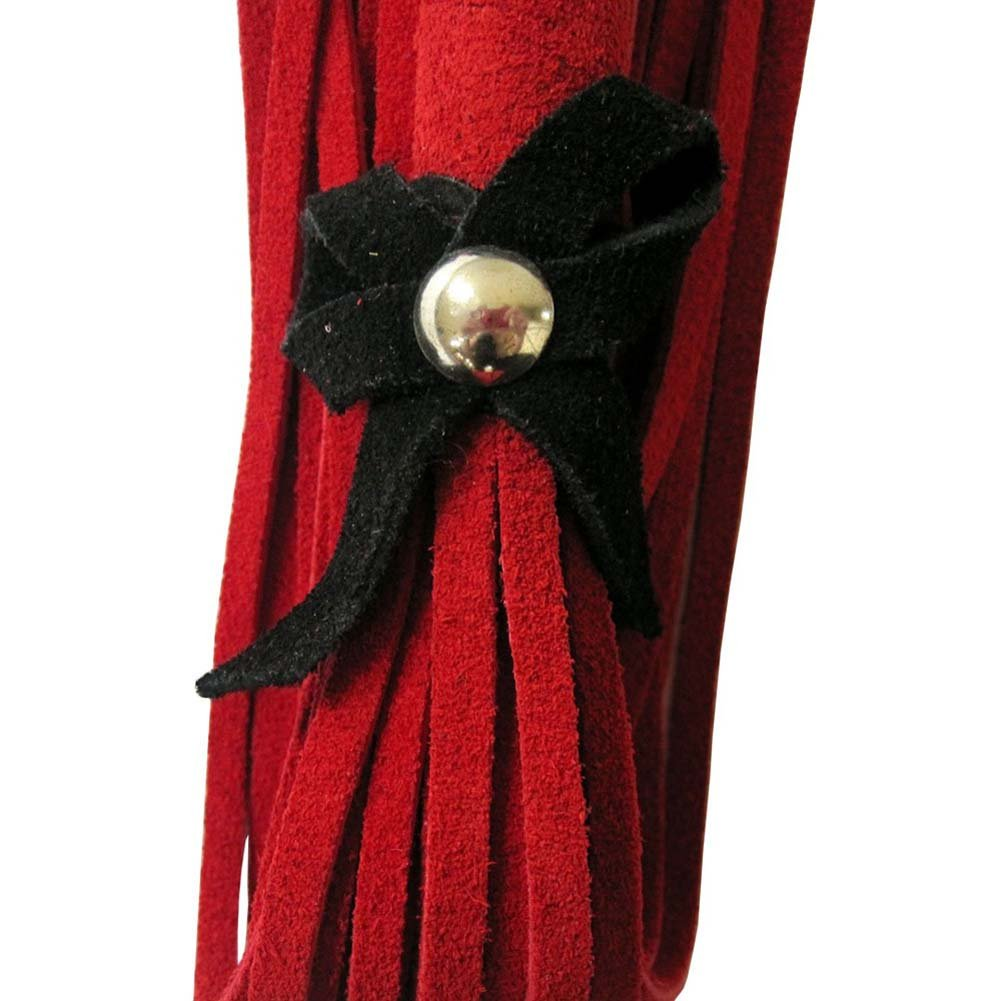 Love Knot Flog-Her Red with Black Bow - View #3