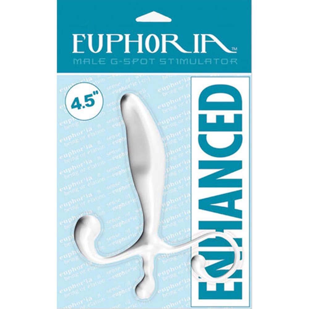 "Euphoria Enhanced Male G-Spot Stimulator - Prostate and Perineum Probe 4.5"" White - View #3"