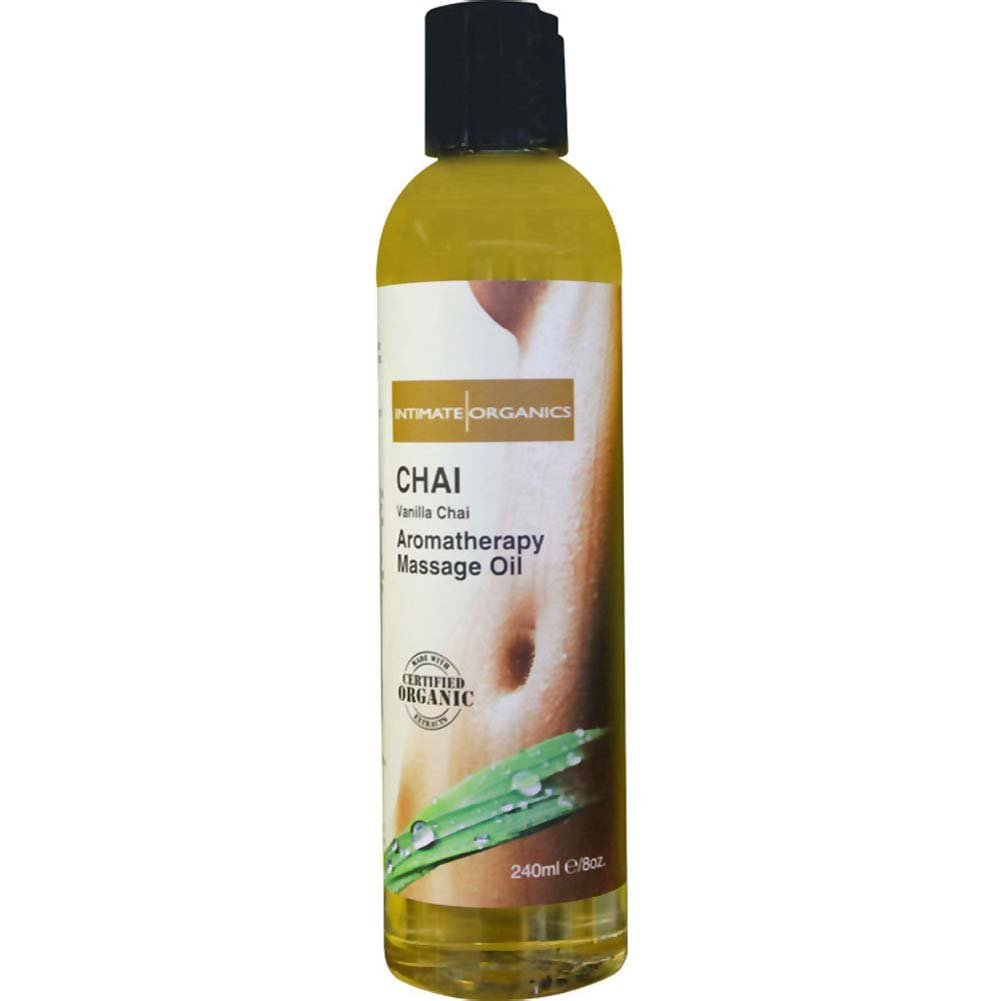 Intimate Organics Sensual Massage Oil 8 Fl.Oz Vanilla Chai - View #1