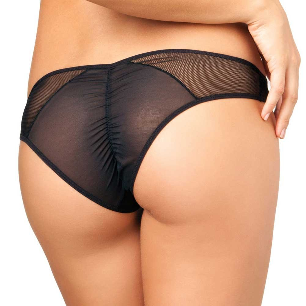 Rene Rofe Crotchless Fishnet Panty Small/Medium Black - View #2