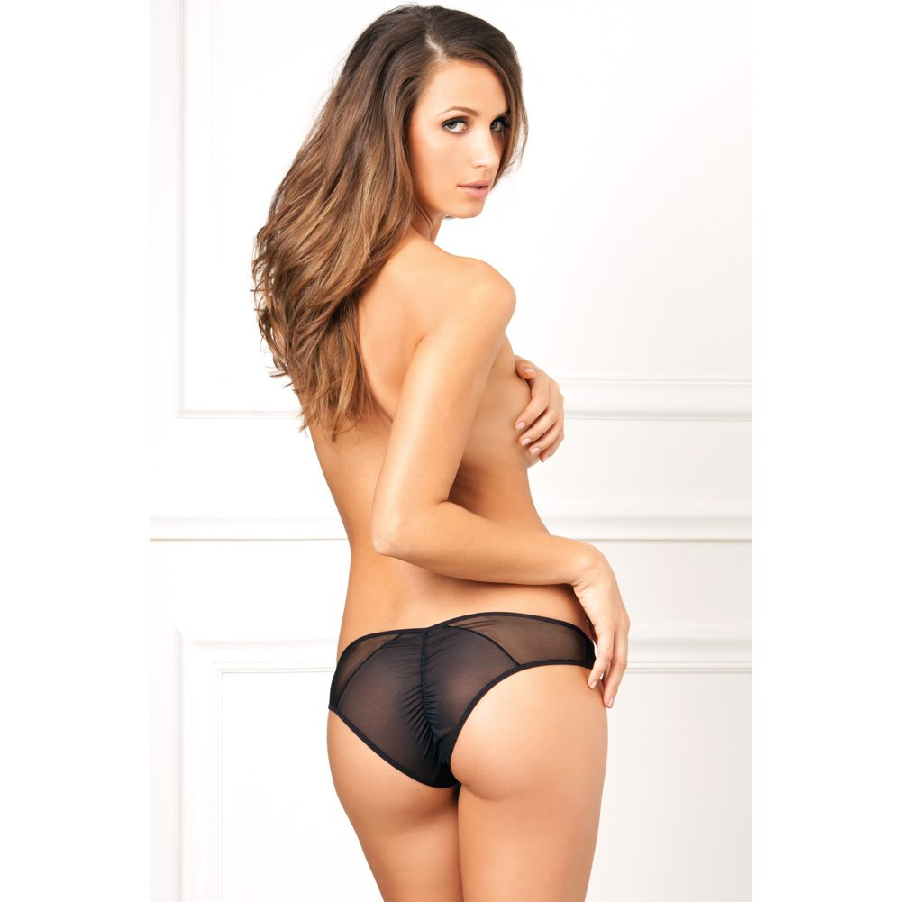 Rene Rofe Crotchless Fishnet Panty Small/Medium Black - View #4