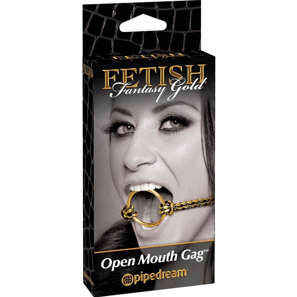 Fetish Fantasy Gold Open Mouth Gag Gold - View #1