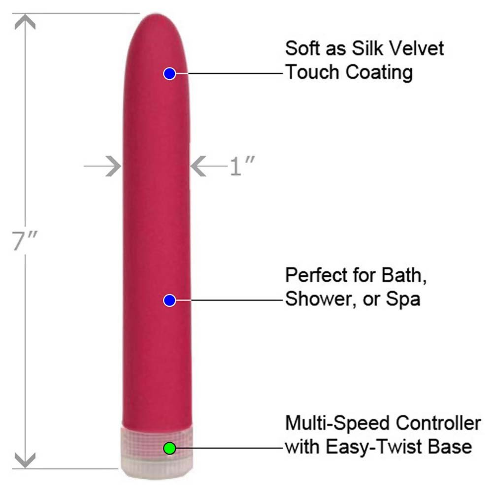 "Velvet Touch Waterproof Vibrator 7"" Dusty Rose - View #1"