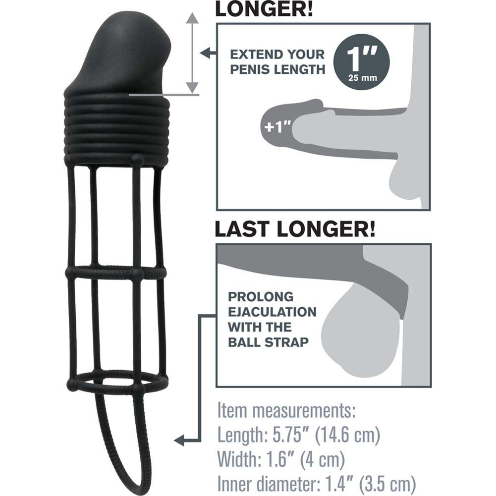 "Fantasy X-Tensions Silicone Performance 1"" Extension Black - View #1"
