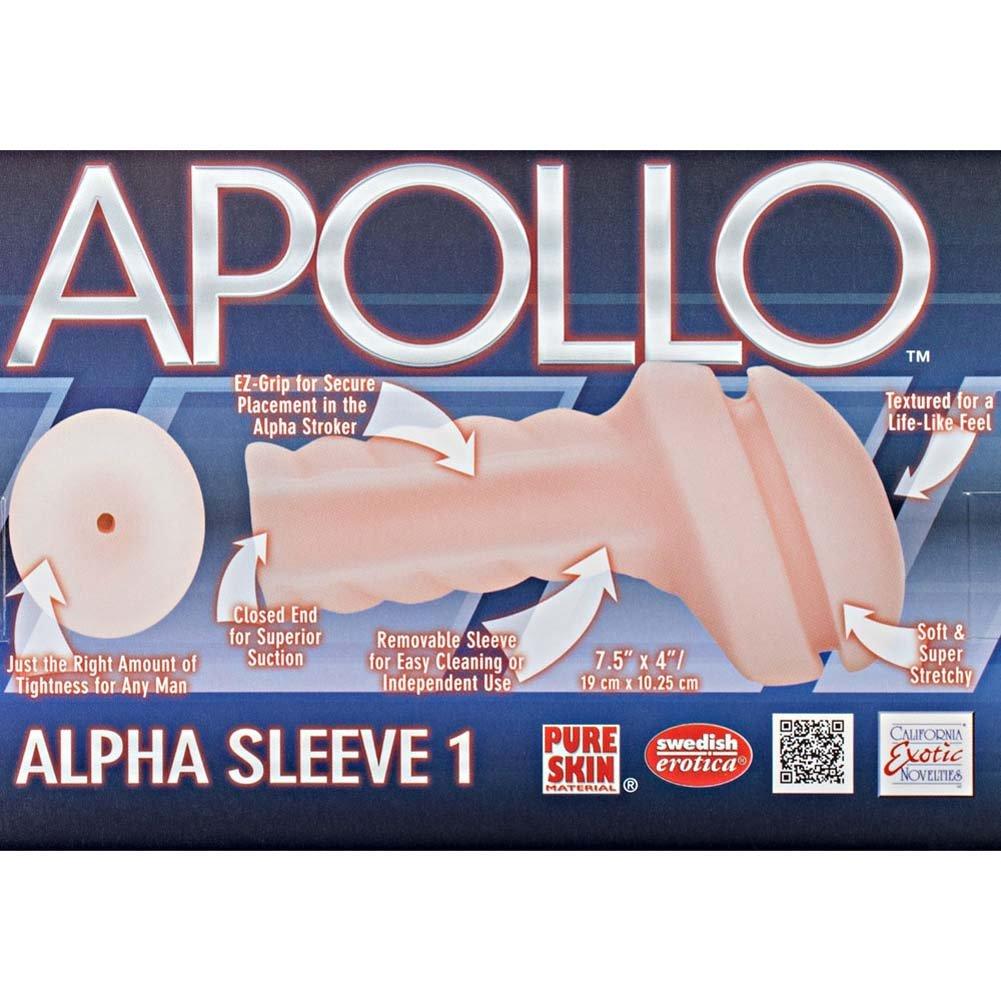"California Exotics Apollo Alpha Sleeve 1 Gender Neutral Masturbator 7.5"" Natural - View #1"