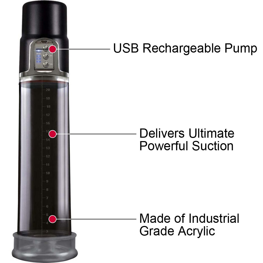 Renegade Powerhouse USB Rechargeable Pump Black - View #1