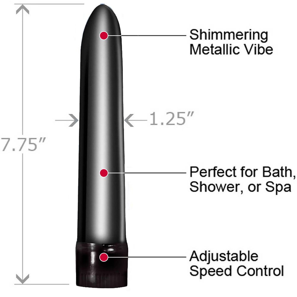 "Synergy Vibe Me Sensual Pleasure Vibrator 7.75"" Black - View #1"
