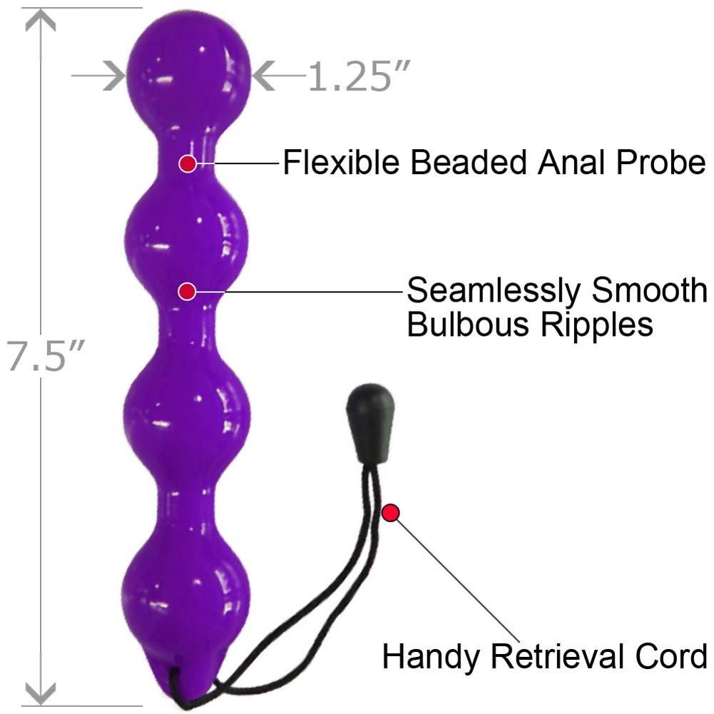 "Elan Quatre 4 Boule Premium Love Beads for Men and Women 7.5"" Purple - View #1"