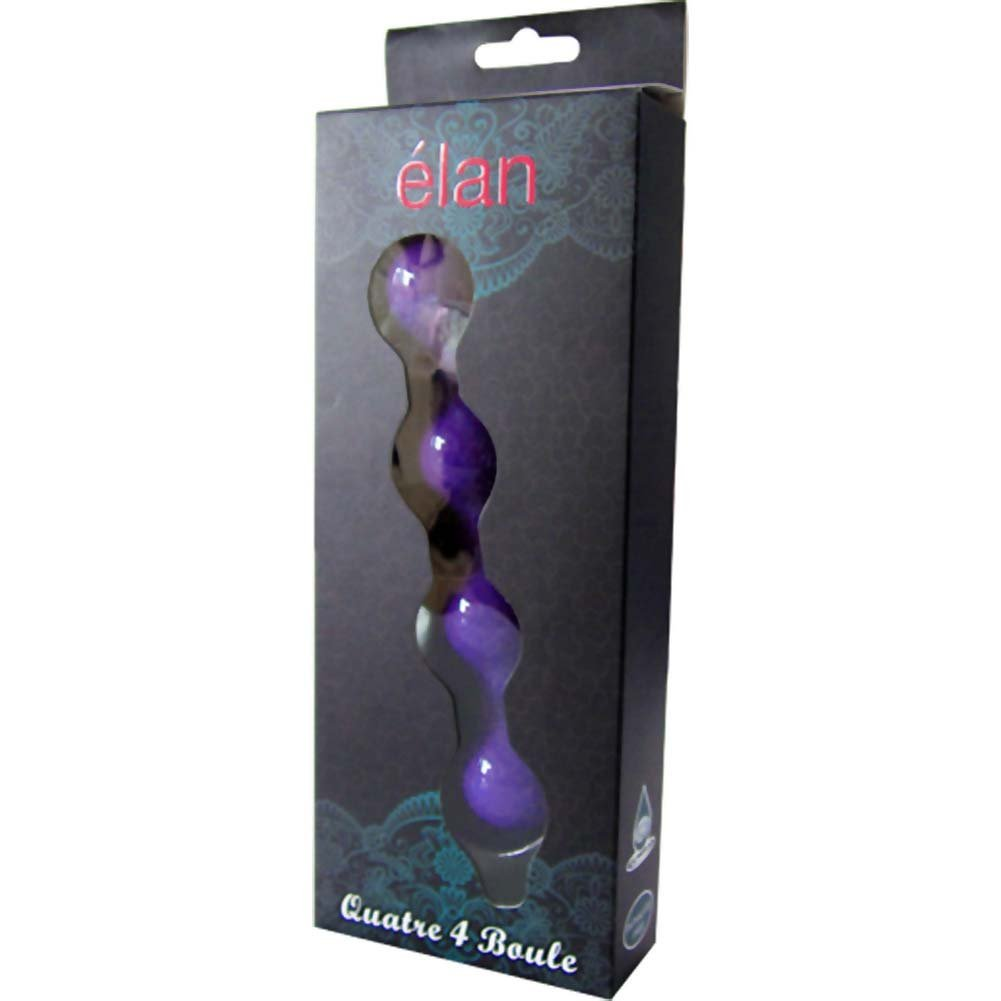 "Elan Quatre 4 Boule Premium Love Beads for Men and Women 7.5"" Purple - View #3"