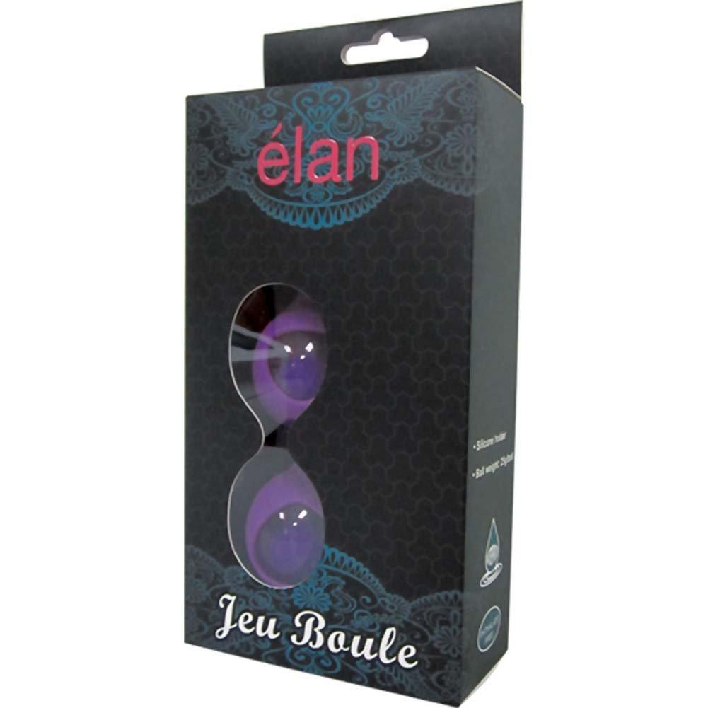 Elan Jeu Boule Kegel Ben Wa Balls with Silicone Holder Sexy Purple - View #3