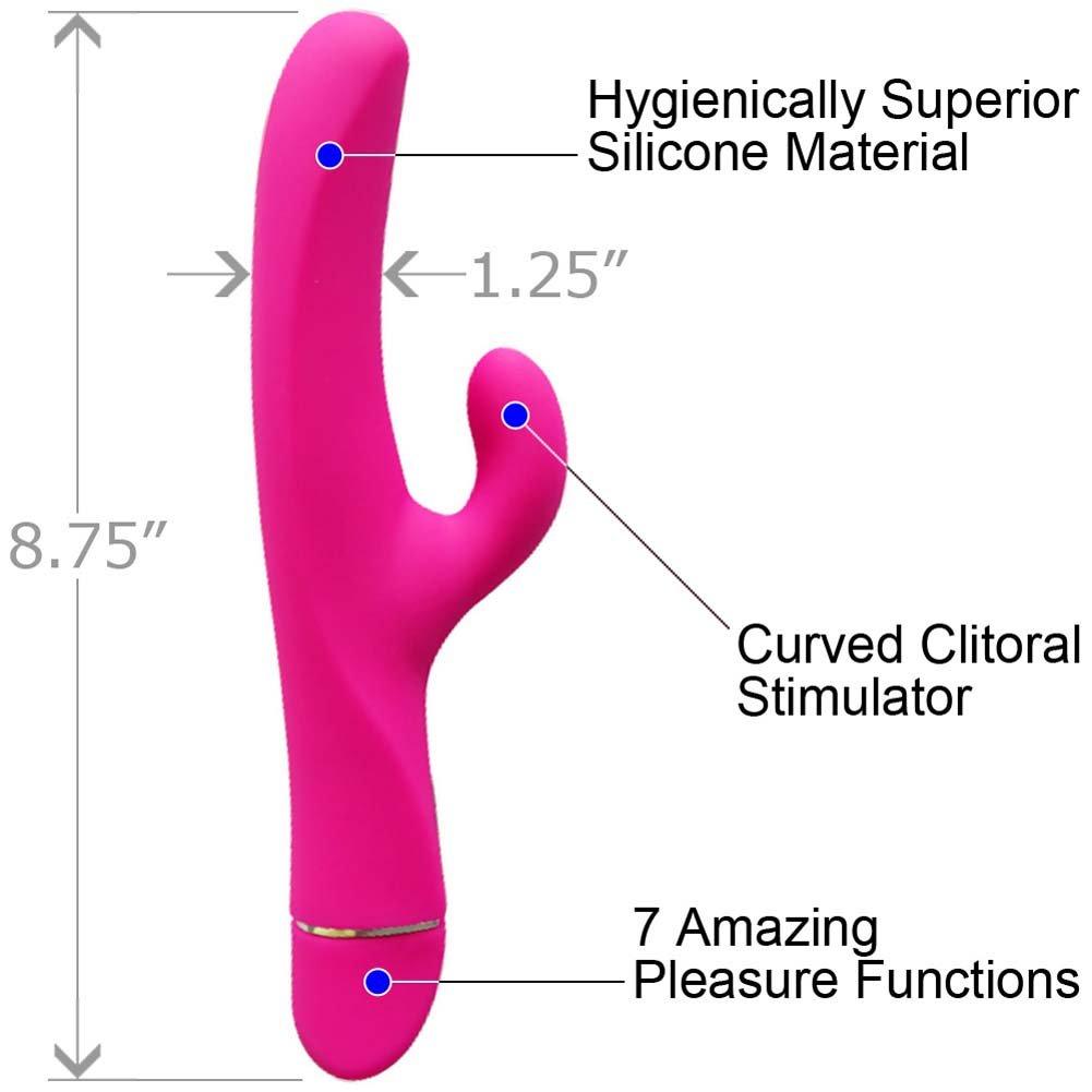 "Elan Seduisant Premium Silicone Personal Vibrator 8.75"" Pink - View #1"