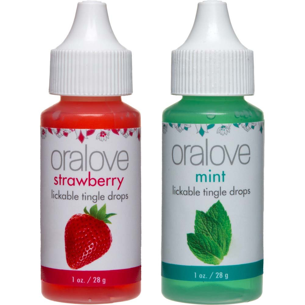 Oralove Delectable Duo Lickable Tingle Drops Strawberry Mint 2-Pack - View #2