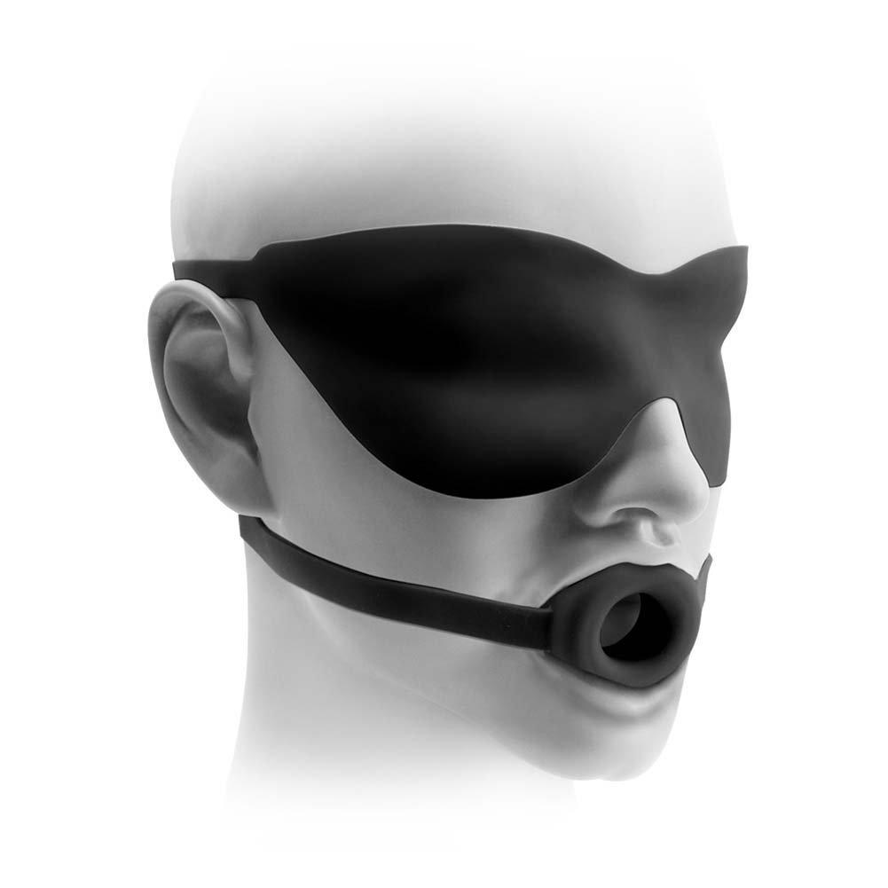 Fetish Fantasy Elite Large Open-Mouth Gag Mask Black - View #2