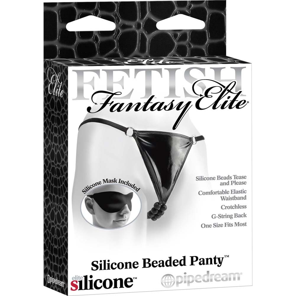Fetish Fantasy Elite Silicone Beaded Panties One Size Black - View #3